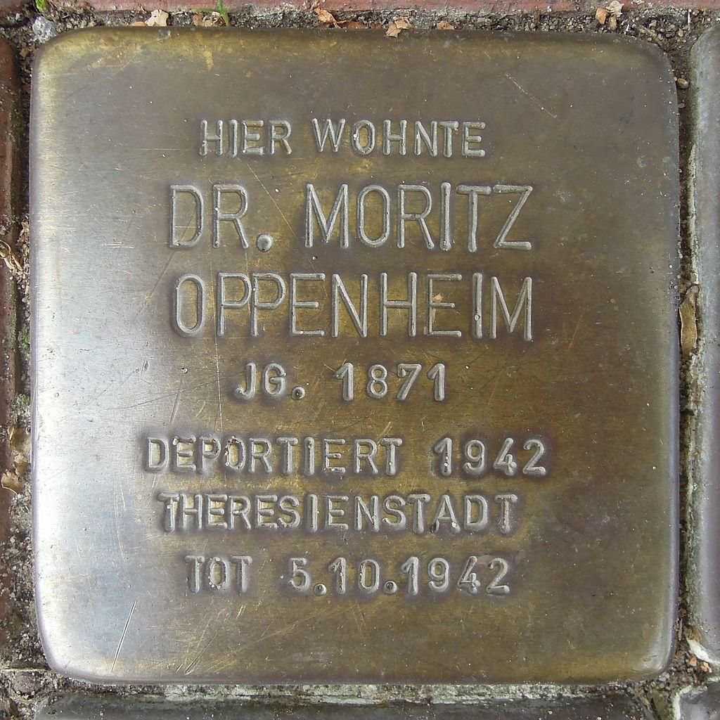 Stolperstein Petershagen Mindenerstraße 12 Moritz Oppenheim