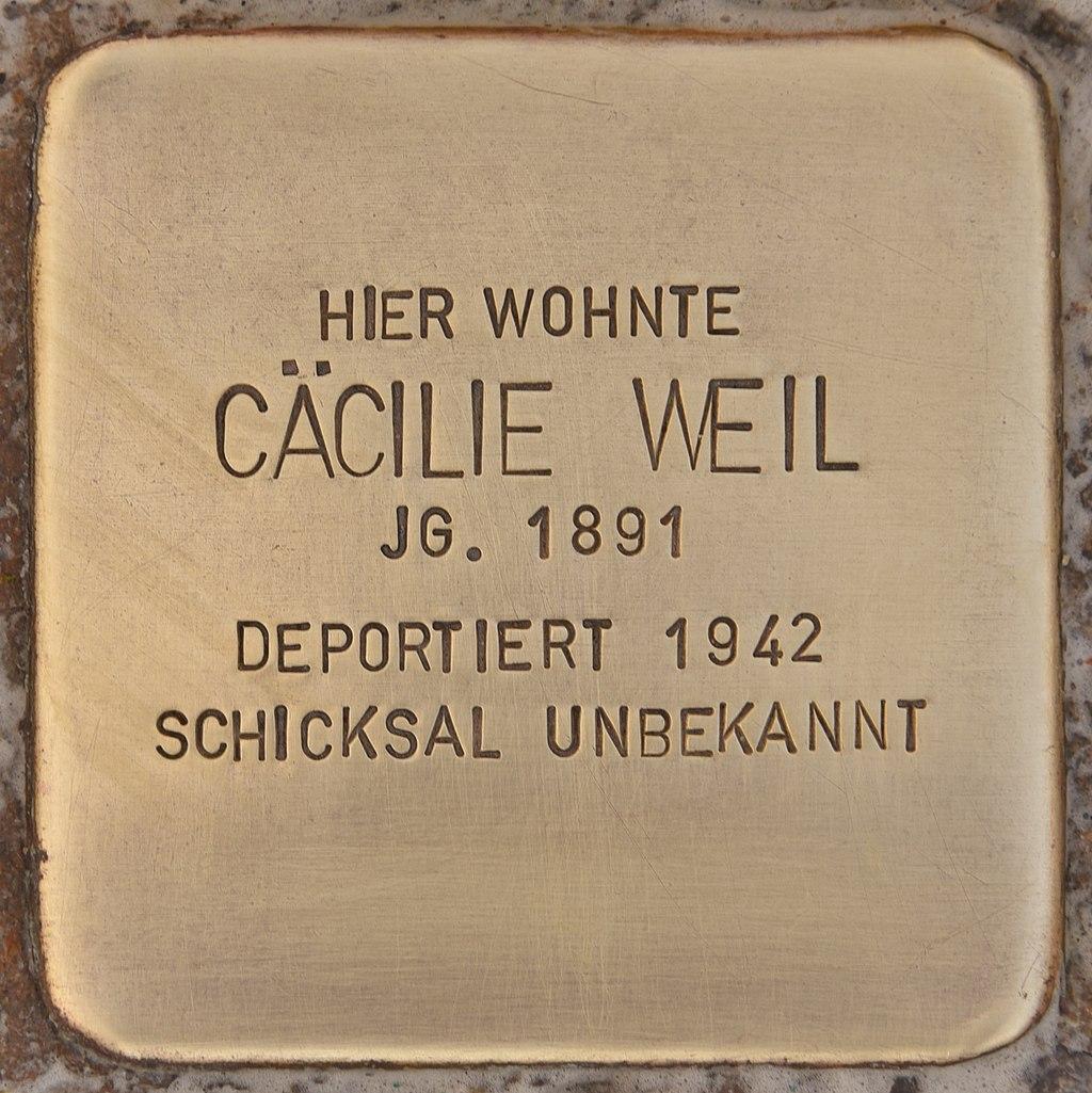 Stolperstein für Cäcilie Weil (Mühlhausen in der Oberpfalz).jpg