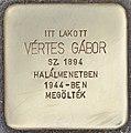Stolperstein für Gabor Vertes - Vertes Gabor (Budapest).jpg