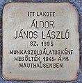 Stolperstein für Janos Laszlo Aldor (Budapest).jpg