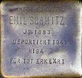 Stumbling stone for Emil Schmitz (Severinswall 12)