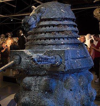 The Big Bang (Doctor Who) - A Stone Dalek, on display at a Doctor Who exhibition