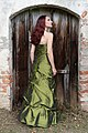 Strapless evening dresses with hoop skirt - rear view with lacing in the back.jpg