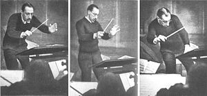 Baton (conducting) - Igor Stravinsky conducting with a baton (1929).