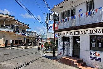 San Ignacio, Belize - Image: Street scene in san ignacio
