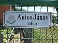 Street sign, Antos János Street, 2017 Abony.jpg