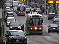 Streetcars on the Queen Street bridge over the Don River, 2014 12 03 (25) (15756185560).jpg