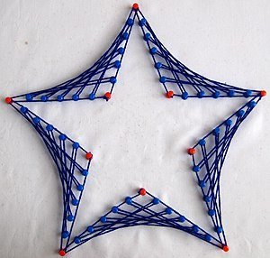String art - Image: String art star design