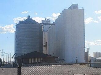 Sublette, Kansas - Sublette Cooperative grain elevator (2010)