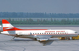 Austrian Airlines - Austrian Sud Caravelle in 1972