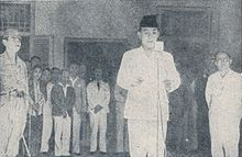 Sukarno reading the proclamation, Bung Karno Penjambung Lidah Rakjat 233.jpg