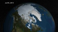 Fail:Summer Arctic Sea Ice Retreat - May - August 2013.ogv