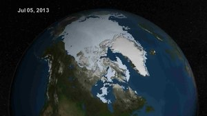 Файл:Summer Arctic Sea Ice Retreat - May - August 2013.ogv