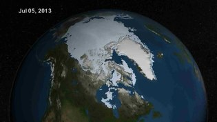 File:Summer Arctic Sea Ice Retreat - May - August 2013.ogv