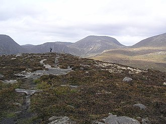 Slieve Commedagh - Image: Summit of Rocky Mountain geograph.org.uk 66840