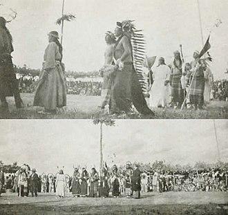Flying Hawk - Sun Dance, Rosebud, South Dakota, 1928, Major Israel McCreight