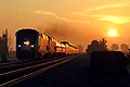 Sunrise Capitol Limited crossing the Indiana-Ohio line, August 2018.jpg