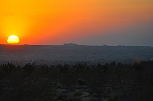 Horizon - A High desert horizon at sunset, California, USA