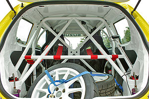Roll cage - Racecar roll cage inside a Suzuki Swift
