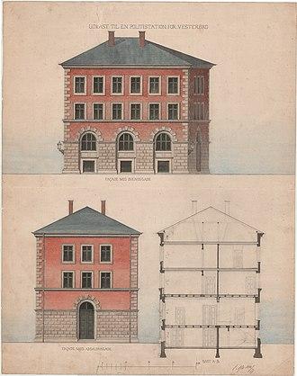 Absalonsgade - Rendering for Svendsgade Police Station )1881)3