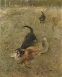 Swedish Foxhound and Fox (Bruno Liljefors) - Nationalmuseum - 19484.tif