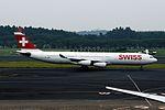 Swiss International Airlines Airbus A340-313X (HB-JMM-154) (19943679834).jpg