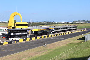 Sydney Motorsport Park - The race control building and the main pit lane.