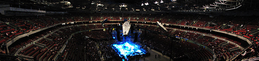 Panorama Of Acer Arena Before A Metallica Concert In 2010