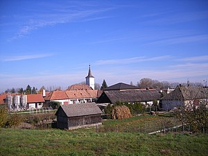 Sap (village) - The view of the village from the Danube