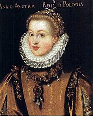 Portrait of Queen Anna of Austria (1573-1598).