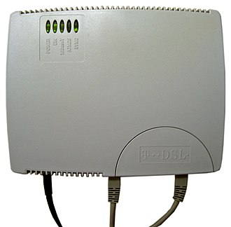 Digital subscriber line - A DSL modem