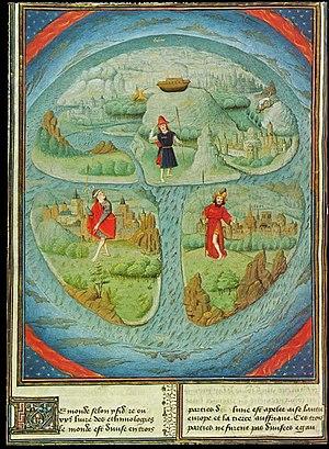 Mappa mundi - Mappa Mundi in La Fleur des Histoires. 1459-1463