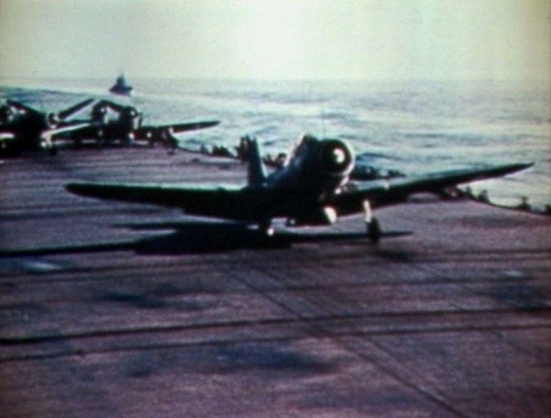 File Tbd Vt 8 Taking Off From Uss Hornet Cv 8 Jpg
