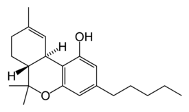 Tetrahidrocannabinol chemical structure