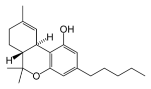 Effects of cannabis - The structural formula of tetrahydrocannabinol