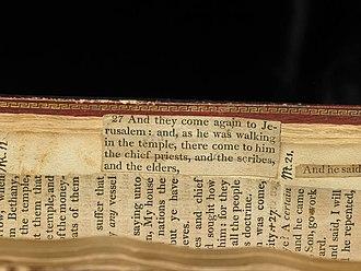 Jefferson Bible - Image: TJB Tab Page 56
