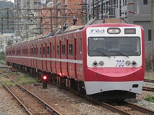 Taiwan Railway EMU700 series - An EMU700 train in Keikyu livery, September 2016