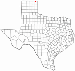Location of Booker, Texas