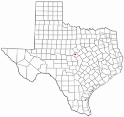 Location of Mullin, Texas
