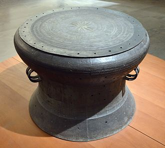 Dong Son culture - Dong Son drum from Sông Đà, Mường Lay, Vietnam. Dong Son II culture. Mid-1st millennium BC. Bronze.