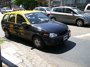 Taxicabs by country - Chevrolet Corsa taxi