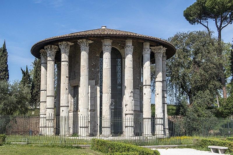 File:Temple of Hercules Victor Rome April 2019.jpg