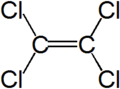 Strukturformel Tetrachlorethen