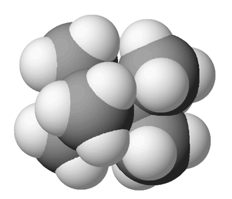 Tetramethylbutane - Image: Tetramethylbutane 3D 1