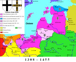 history map of Ordensstaat, 1455