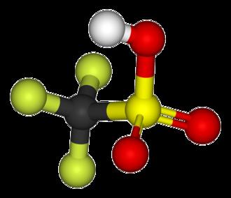 Triflic acid - Image: Tf OH 3D ball & stick