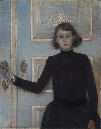 Théo van Rysselberghe - Portrait of Marguerite van Mons