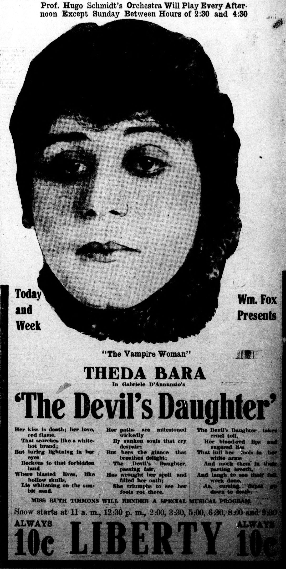 The Devils Daughter 1915 Film