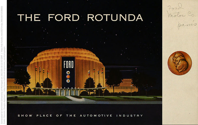 1936 : Ford Rotunda Opens To Public in Dearborn