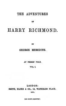 The Adventures of Harry Richmond 1st ed.jpg